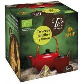Té Verde con Jengibre y Limón. 15 Pirámides