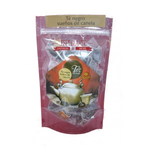 Té negro sueños de canela 40 pirámides de té