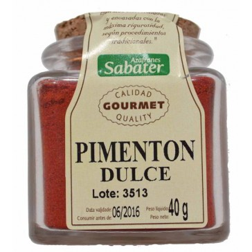 Pimentón dulce gourmet Sabater
