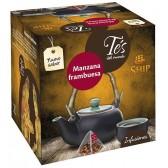 Té de Manzana y Frambuesa. 15 Pirámides.