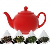 Té Rojo Degustación Sabores en 15 Pirámides de té