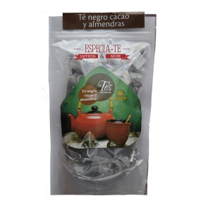 te negro cacao y almendras ecologico